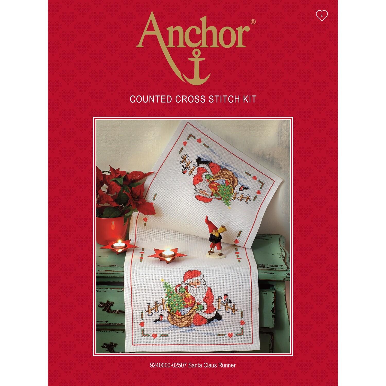Anchor Essentials Cross Stitch - Santa Claus Runner