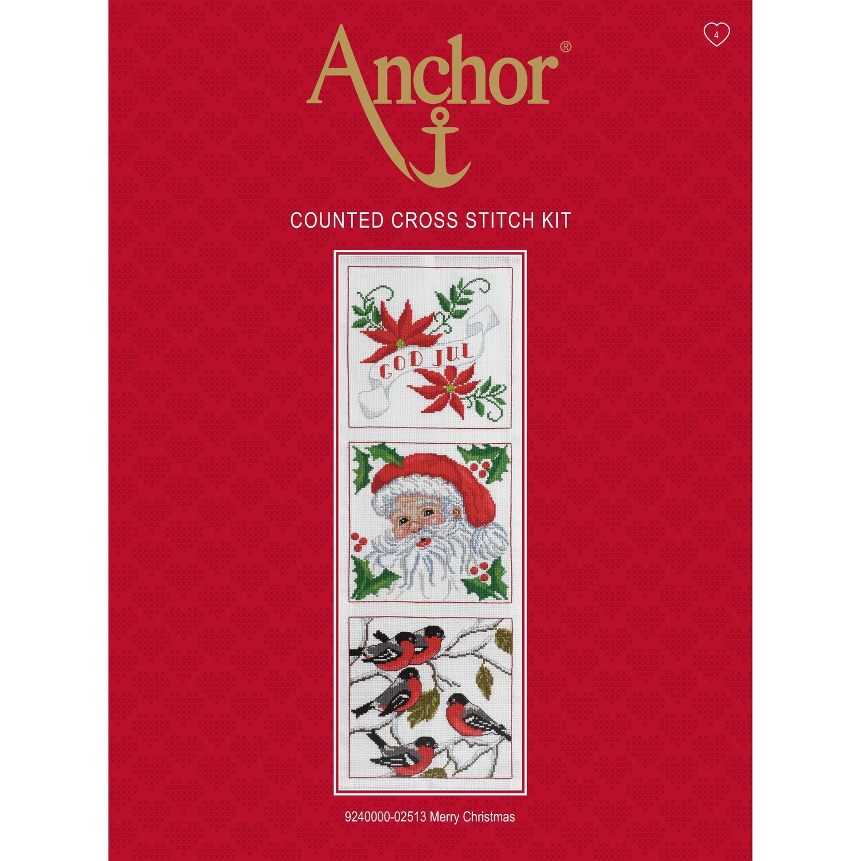 Anchor Essentials Cross Stitch Kit - Merry Christmas