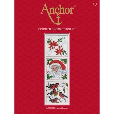 Anchor Essentials Cross Stitch Kit - Merry Christmas