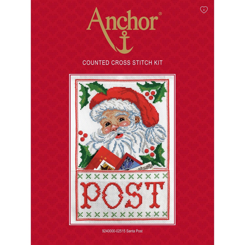 Anchor Essentials Cross Stitch Kit - Santa Post