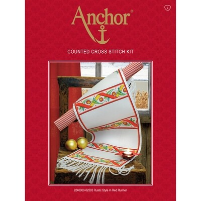 Anchor Essentials Cross Stitch - Rustic Style Runner