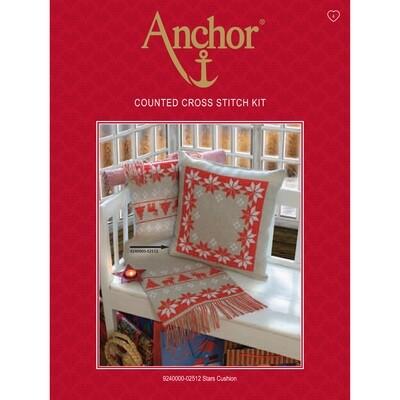 Anchor Essentials Cross Stitch Kit - Stars Cushion