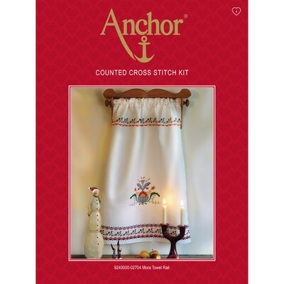 Anchor Essentials Cross Stitch Kit - Mora Towel Rail
