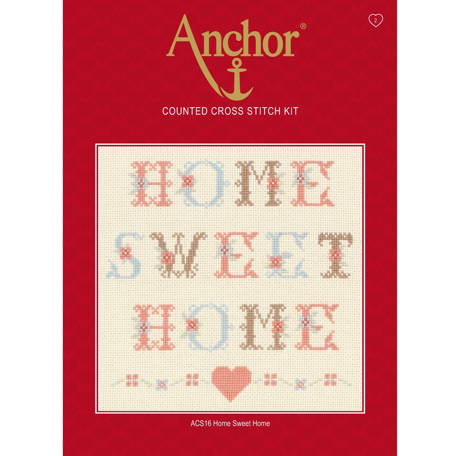 Anchor Essentials Cross Stitch Kit - Home Sweet Home