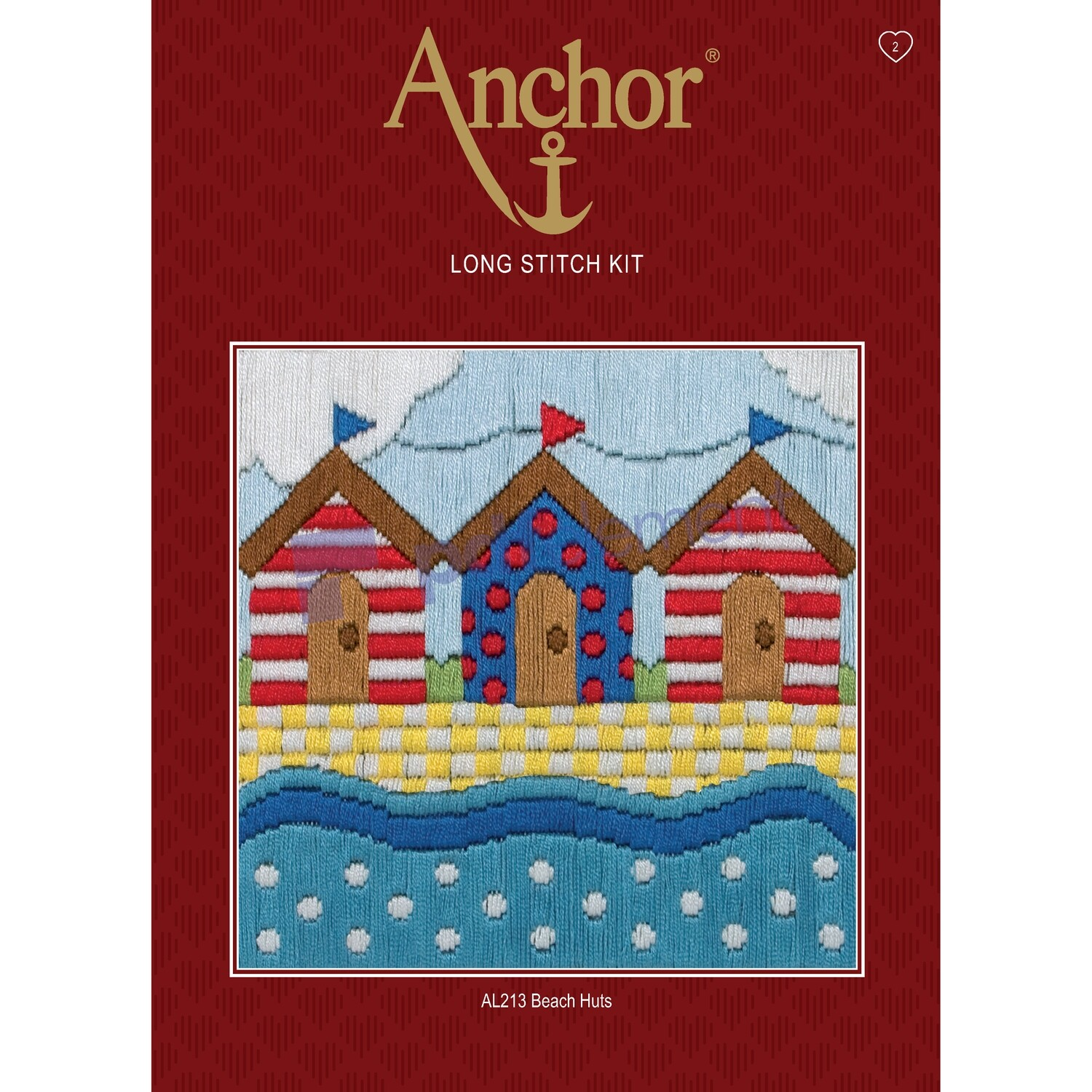 Anchor Starter Long Stitch Kit - Beach Huts