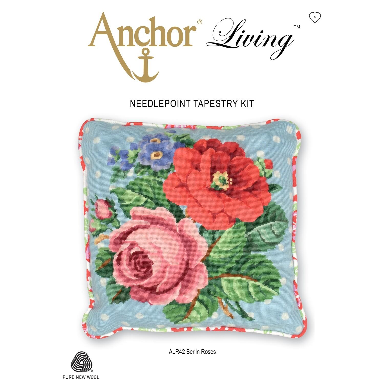 Anchor Living Tapestry Kit - Tapestry Berlin Roses Cushion