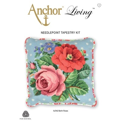 Anchor Living Tapestry Kit - Tapestry Berlin Roses Cushion
