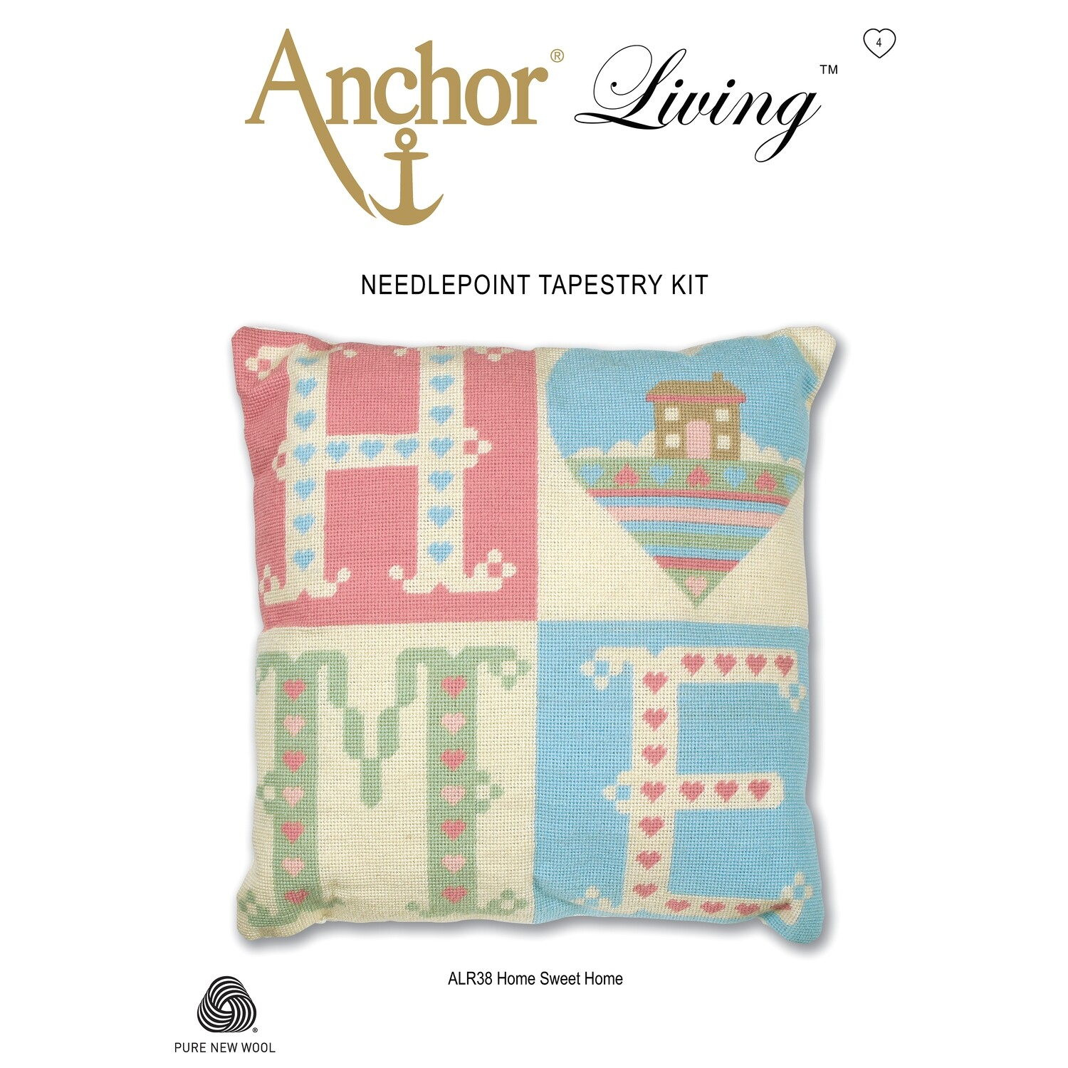 Anchor Living Tapestry Kit -  Tapestry Home Sweet Home Cushion