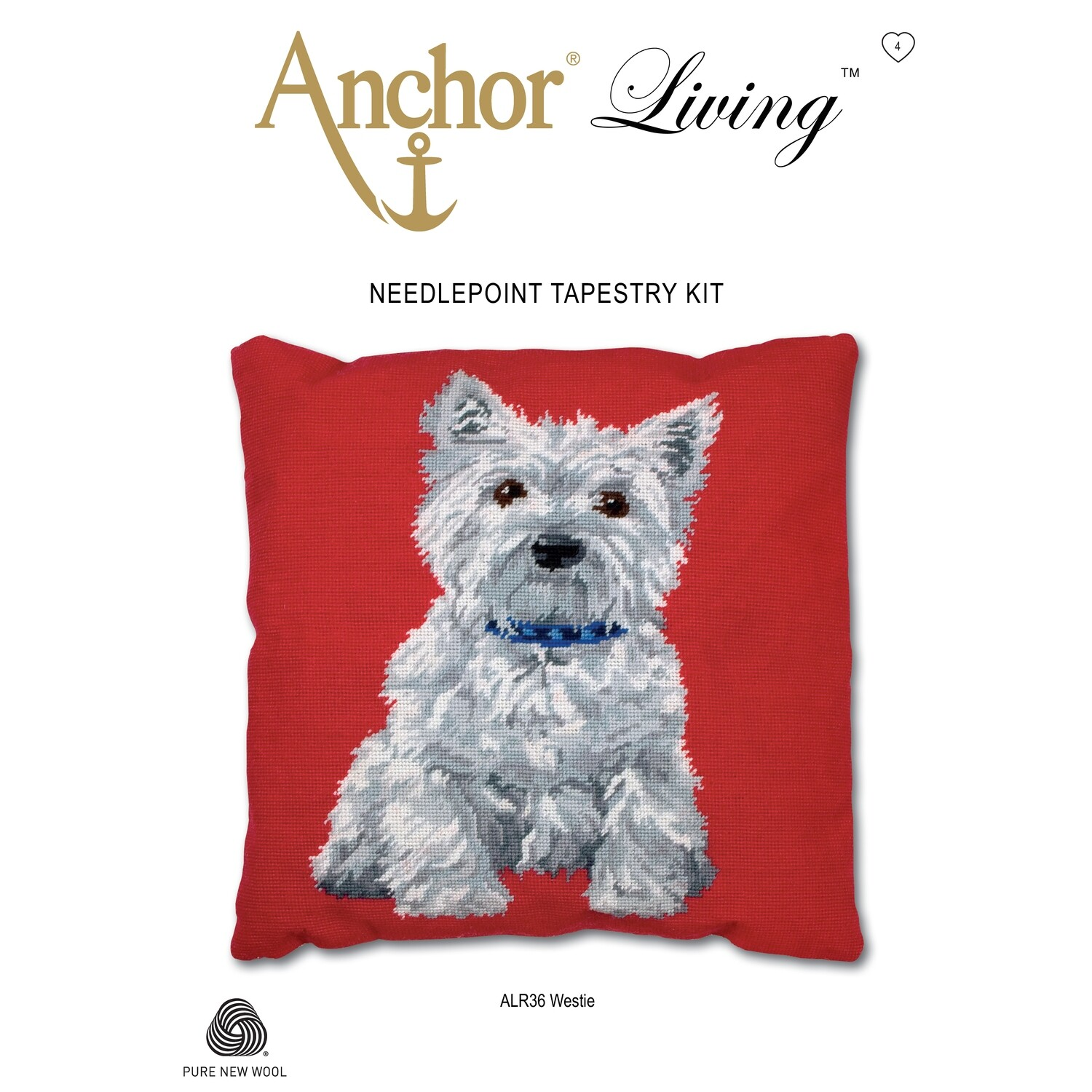 Anchor Living Tapestry Kit - Tapestry Westie Cushion