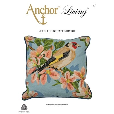 Anchor Living Tapestry Kit - Tapestry Goldfinch & Blossom Cushion