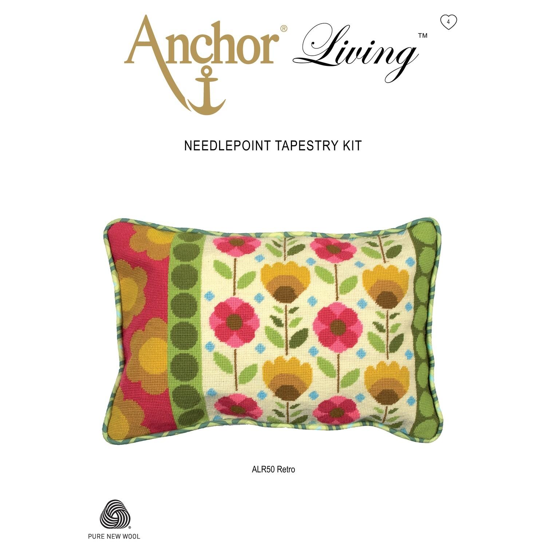 Anchor Living Tapestry Kit - Tapestry Retro Cushion