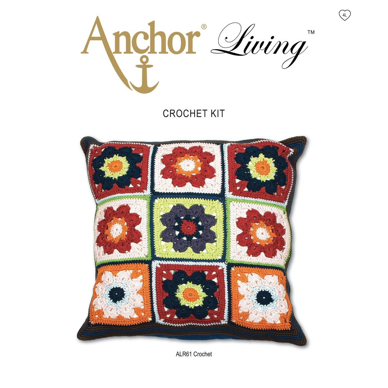 Anchor Living Crochet Kit - Crochet Cushion