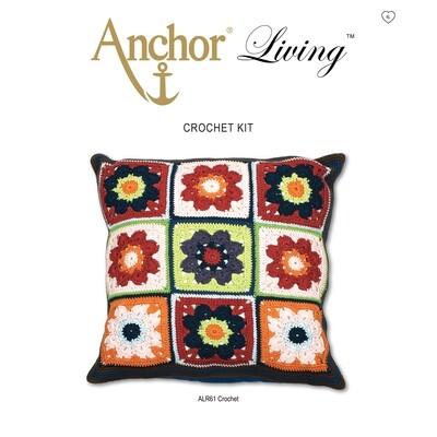 Anchor Living Kit Crochet Kit - Crochet Cushion