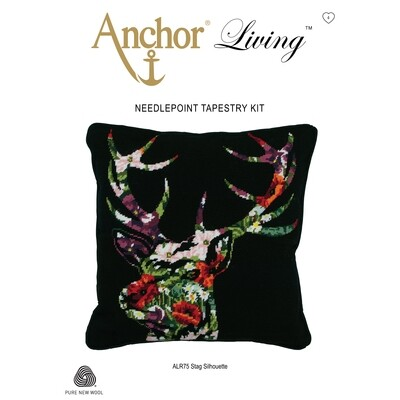 Anchor Living Tapestry Kit - Tapestry Stag Silhouette Cushion