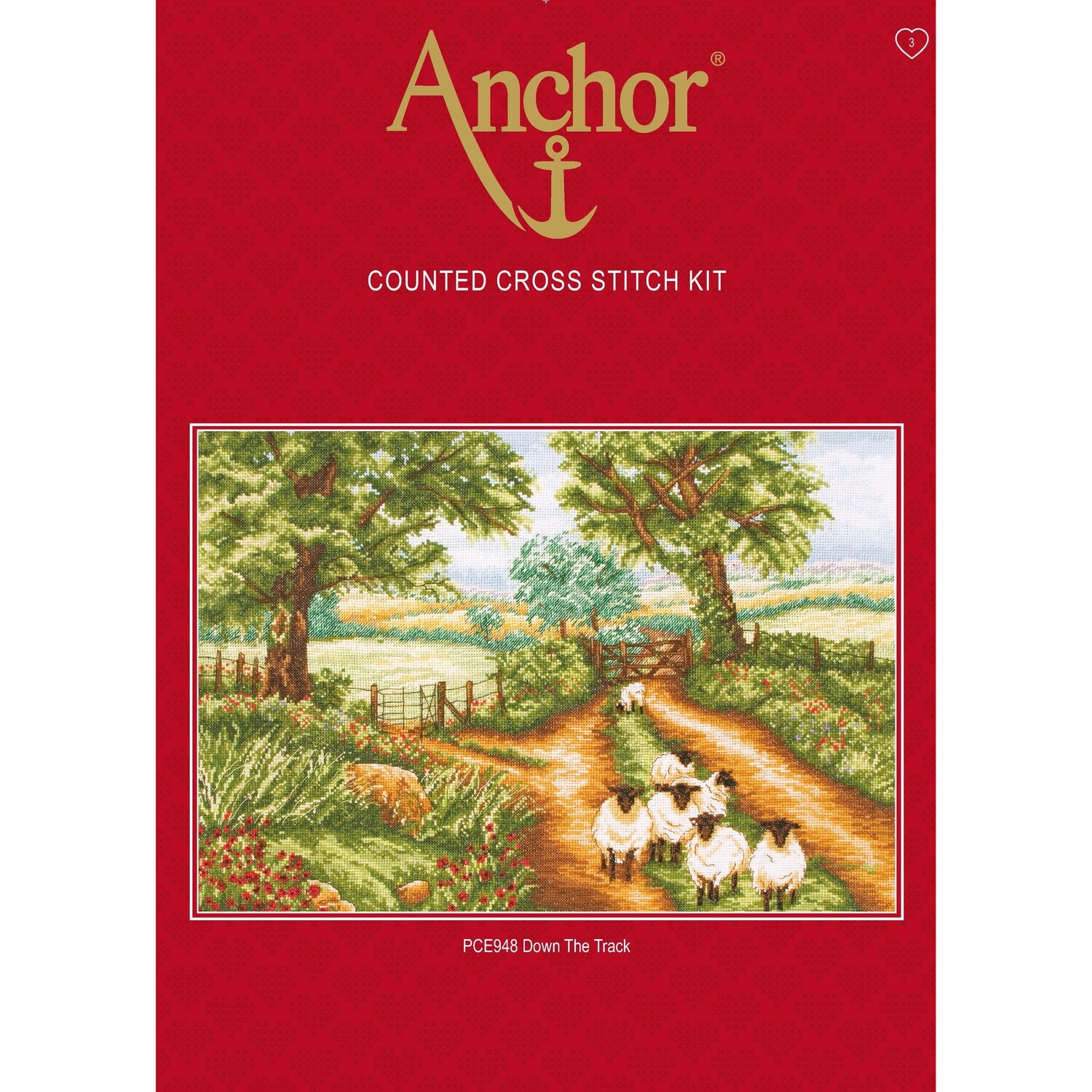 Anchor Essentials Cross Stitch Kit - Down the Track