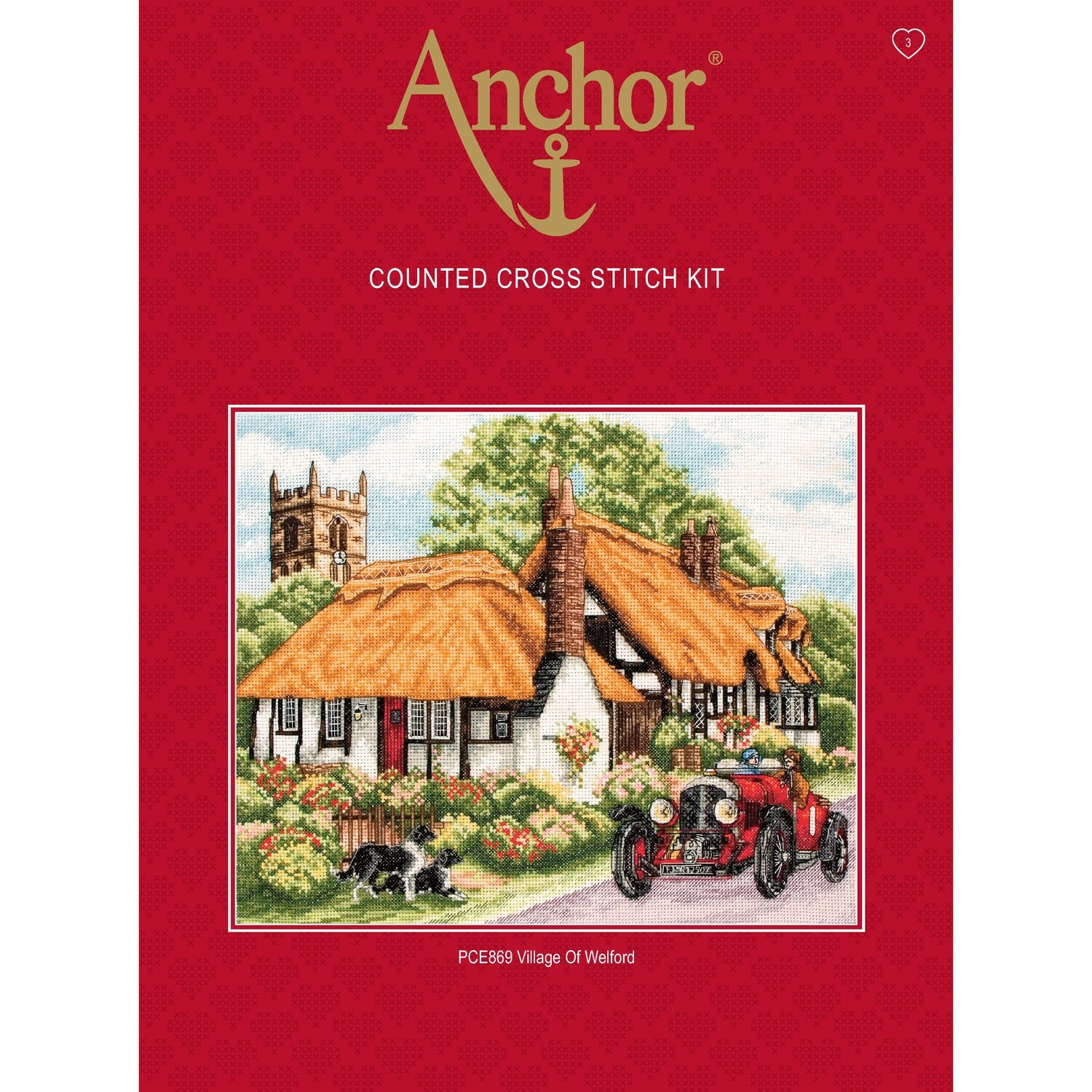 Anchor Essentials Cross Stitch Kit - Village of Welford