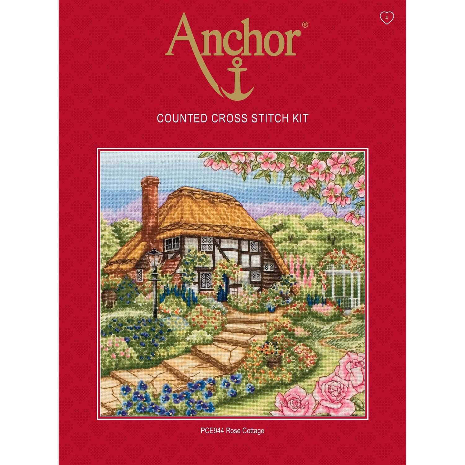 Anchor Essentials Cross Stitch Kit - Rose Cottage