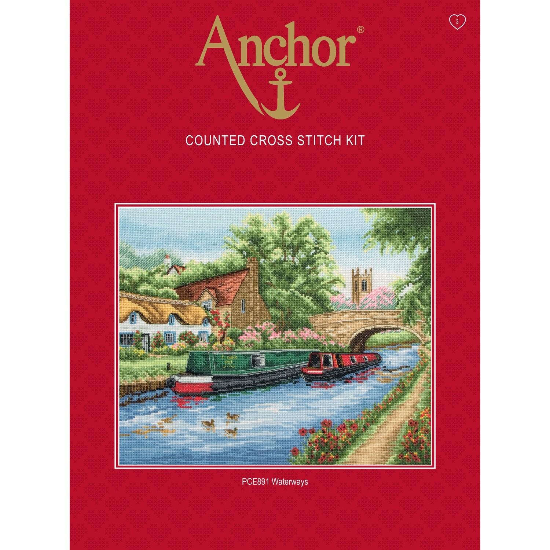 Anchor Essentials Cross Stitch Kit - Waterways