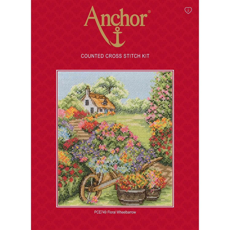 Anchor Essentials Cross Stitch Kit - Floral Wheelbarrow