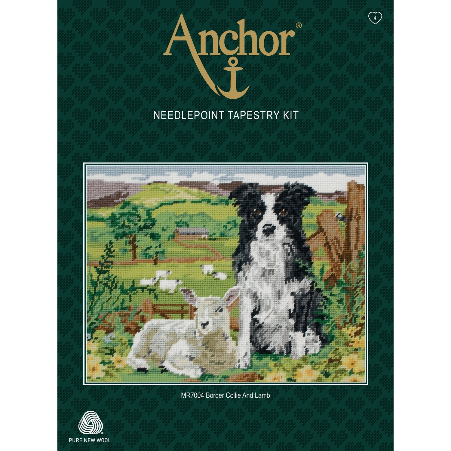 Anchor Essentials Tapestry Kit - Border Collie and Lamb