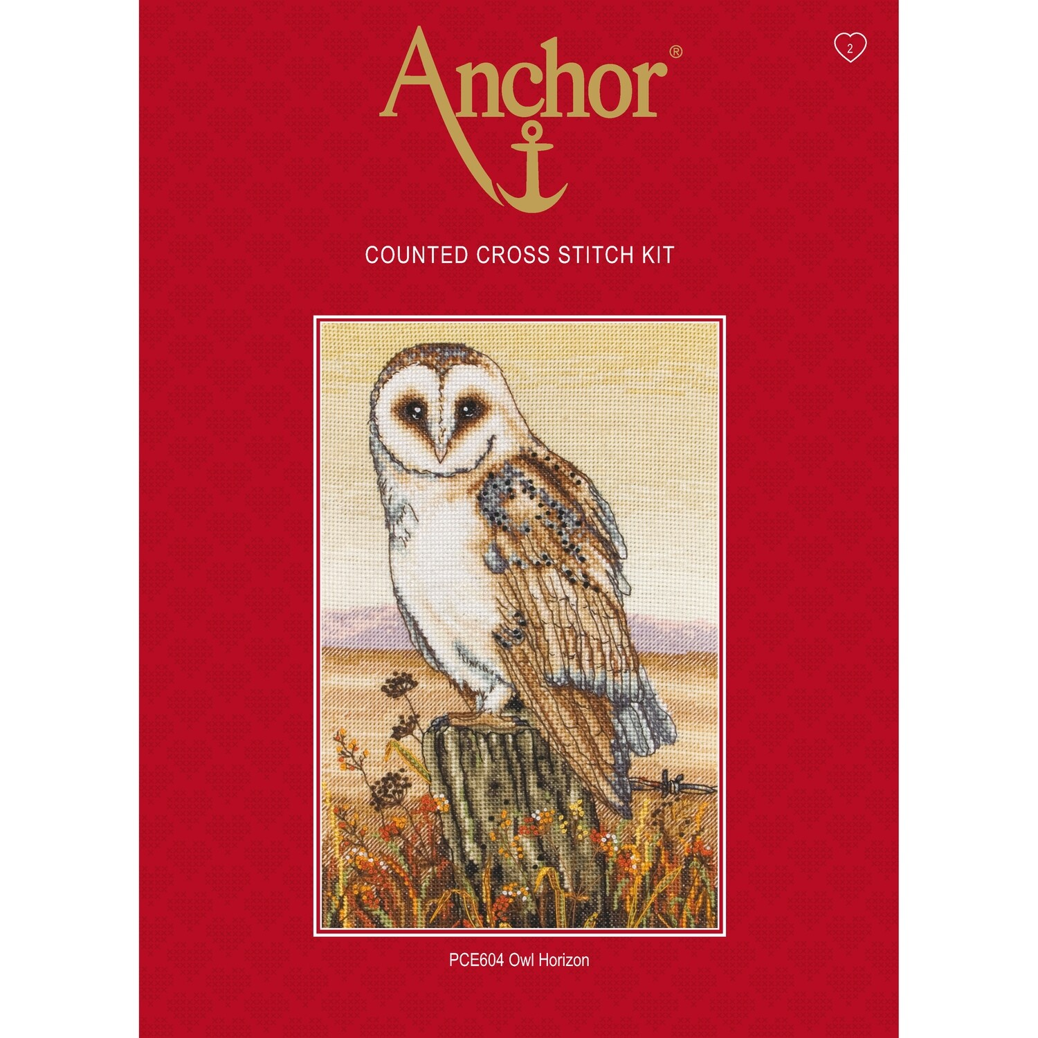 Anchor Essentials Cross Stitch Kit - Owl Horizon