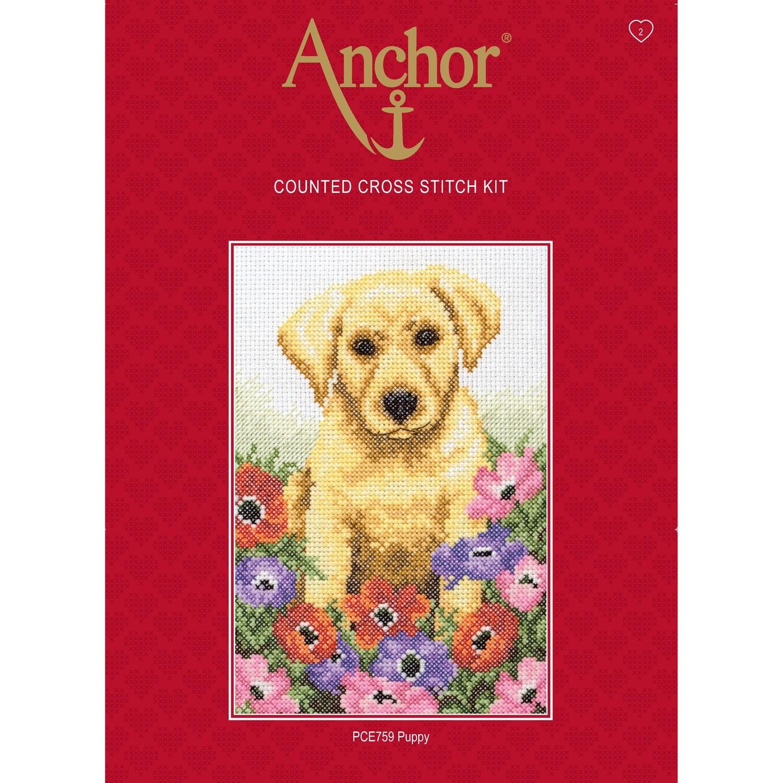 Anchor Essentials Cross Stitch Kit - Puppy