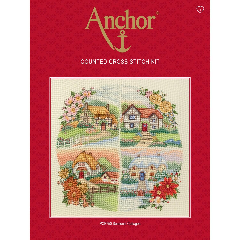 Anchor Essentials Cross Stitch Kit - Seasonal Cottages