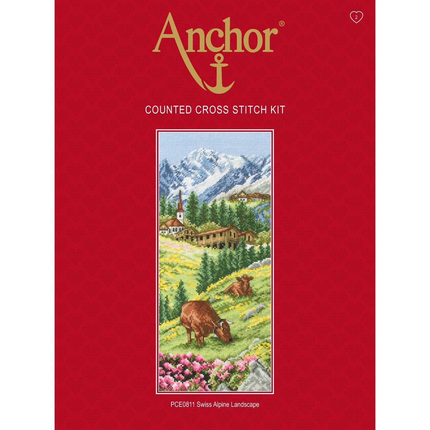 Anchor Essentials Cross Stitch Kit - Swiss Alpine