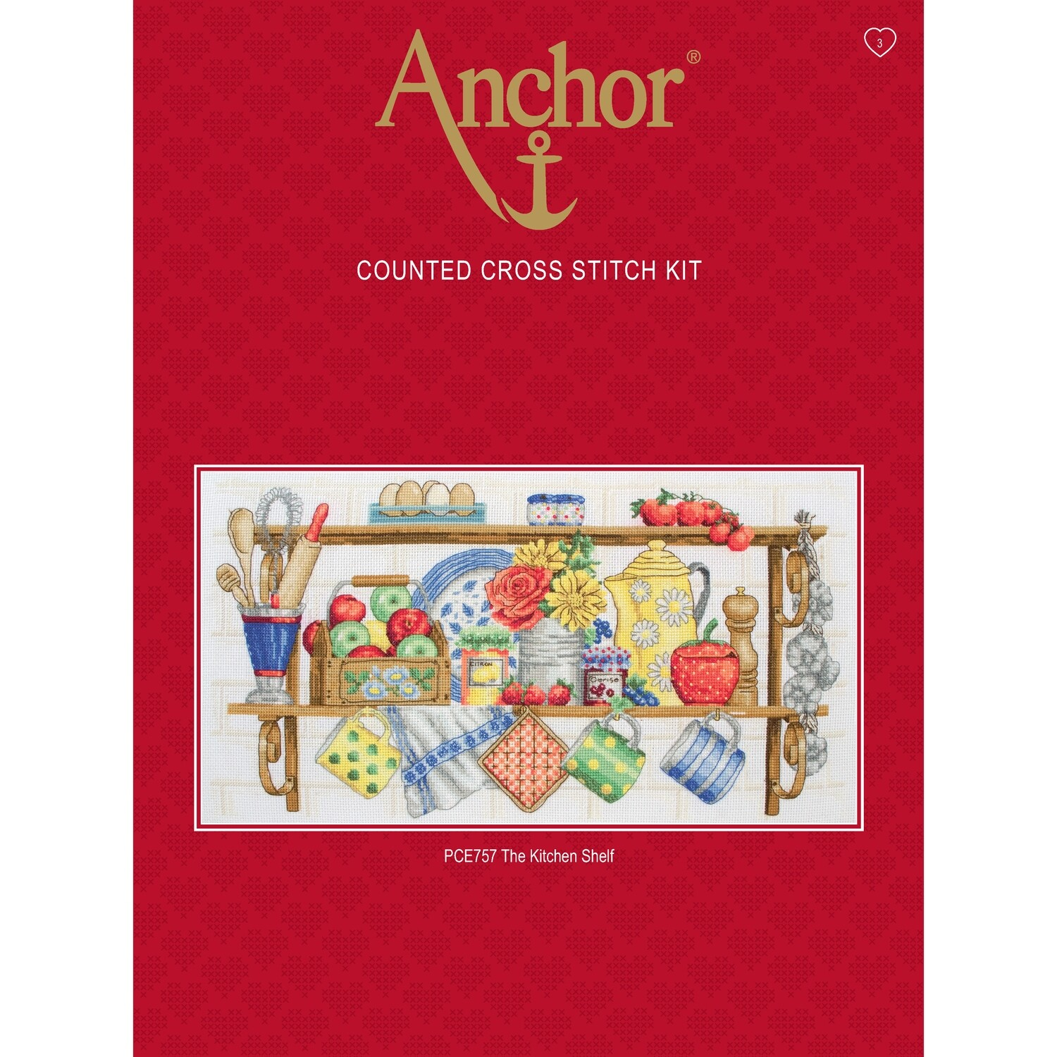 Anchor Essentials Cross Stitch Kit - The Kitchen Shelf