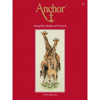 Anchor Essentials Cross Stitch Kit - Giraffe Family