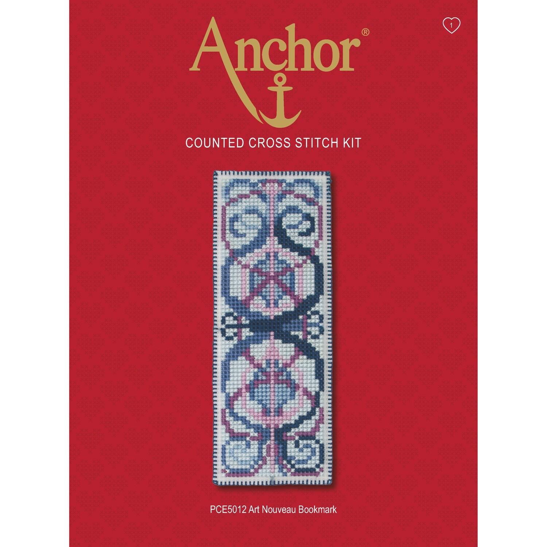 Anchor Essentials Cross Stitch Kit - Art Nouveau Bookmark
