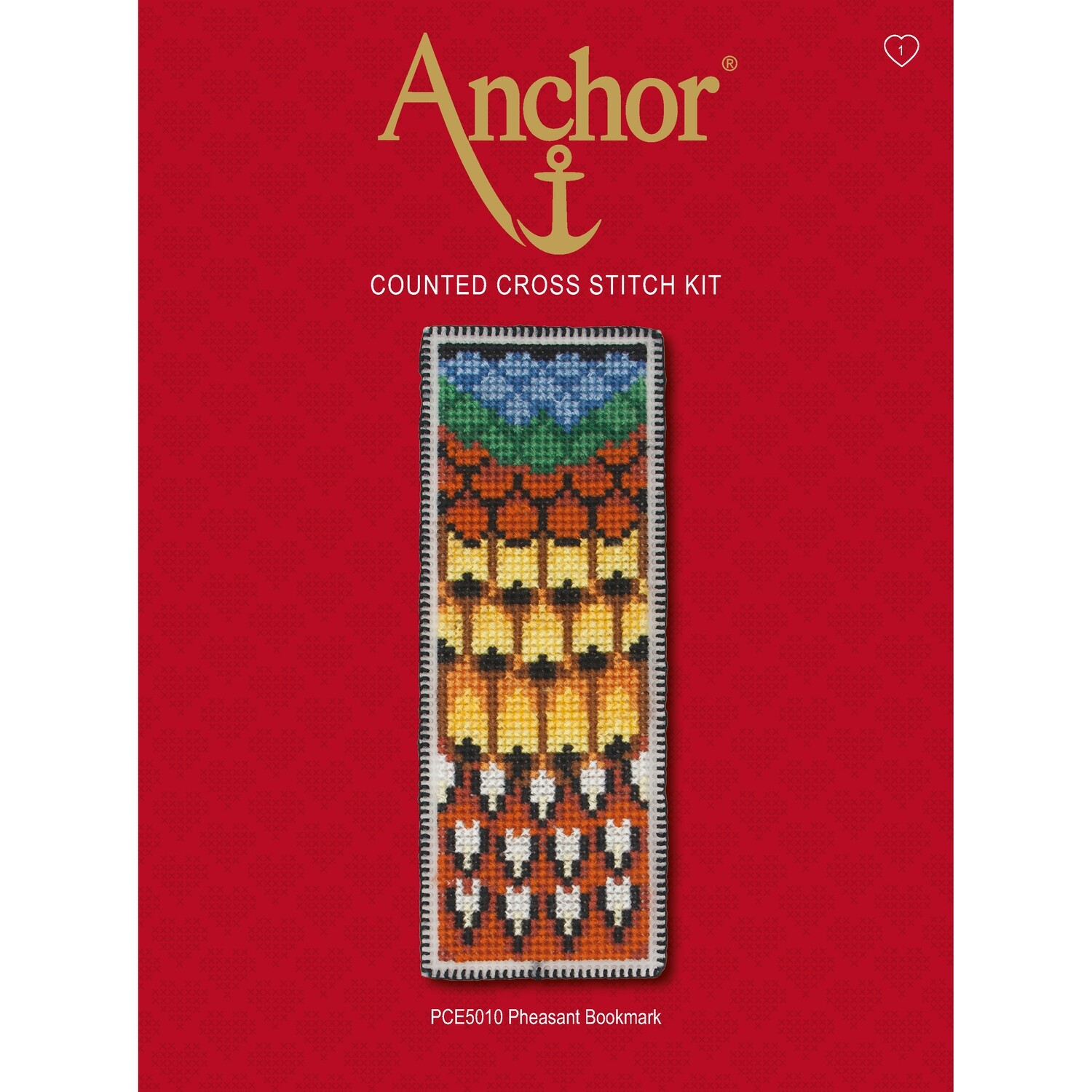 Anchor Essentials Cross Stitch Kit - Pheasant Bookmark