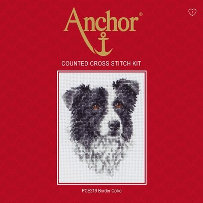Anchor Essentials Cross Stitch Kit - Border Collie