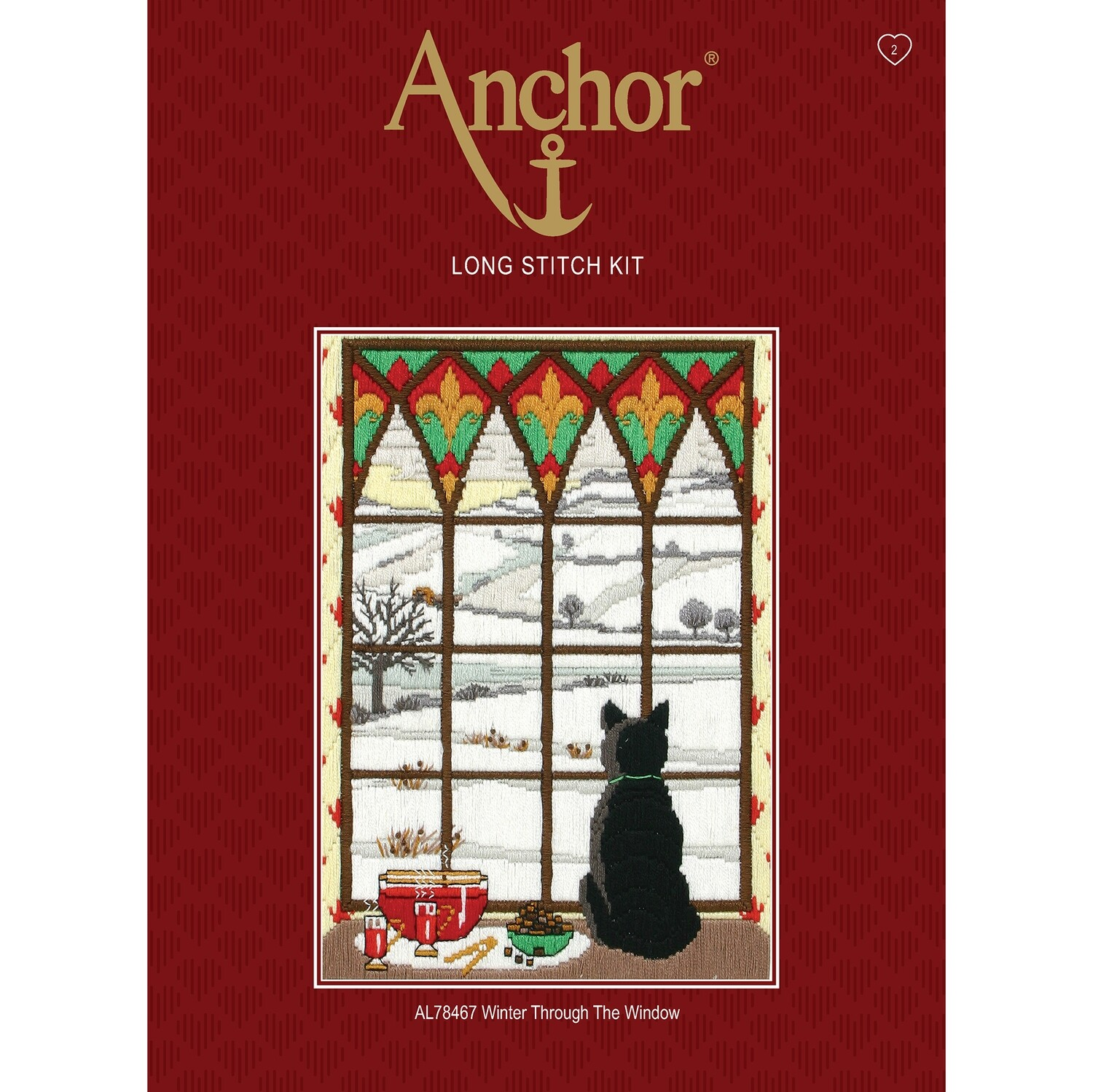 Anchor Starter Long Stitch Kit - Winter through the Window