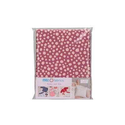 Pre-Cut Cotton - My Baby Love Selection - Spots - Berry (100 x 140 cm)