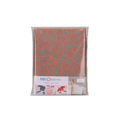 Pre-Cut Cotton - My Baby Love Selection - Twine - Orange (100 x 140 cm)