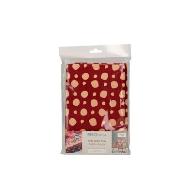 Pre-Cut Cotton - Arne & Carlos - Nordic Garden Dream - Revebjelle-Red (100 x 145 cm)