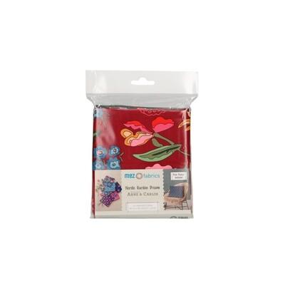 Pre-Cut Cotton - Arne & Carlos -  Nordic Garden Dream - 6 Fat Quarter Bundle  (45 x 55 cm) - Red
