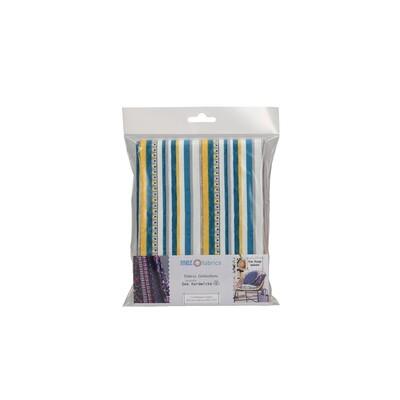 Pre-Cut Cotton - Arne & Carlos - Nordic Garden Dream - Triangle & Stripe - Teal (100 x 145 cm)