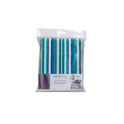 Pre-Cut Cotton - Arne & Carlos - Nordic Garden Dream - Triangle & Stripes - Blue (100 x 145 cm)