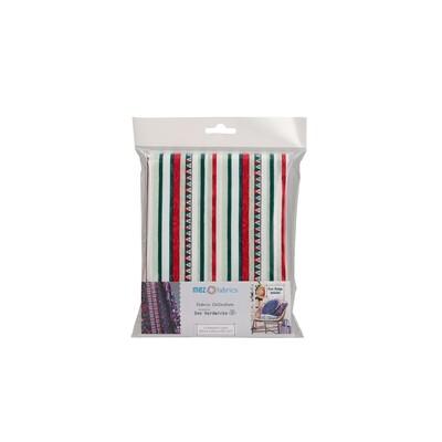 Pre-Cut Cotton - Arne & Carlos - Nordic Garden Dream - Triangle & Stripes - White (100 x 145 cm)