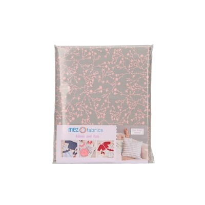Pre-Cut Cotton - My Baby Love Selection - Twine - Berry (100 x 140 cm)
