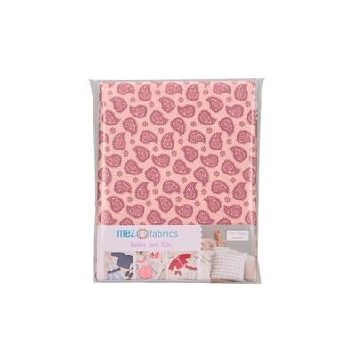 Pre-Cut Cotton - My Baby Love Selection - Paisley - Berry (100 x 140 cm)