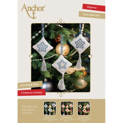 The Christmas Decorations Collection - Festive Star Decoration Ice Blue