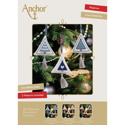 The Christmas Decorations Collection - Festive Tree Decoration Ice Blue