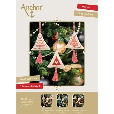 The Christmas Decorations Collection - Festive Tree Decoration Rose Gold