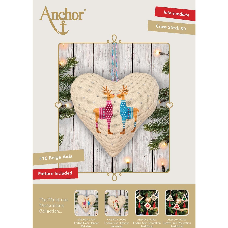 The Christmas Decorations Collection - Festive Door Hanger Reindeer