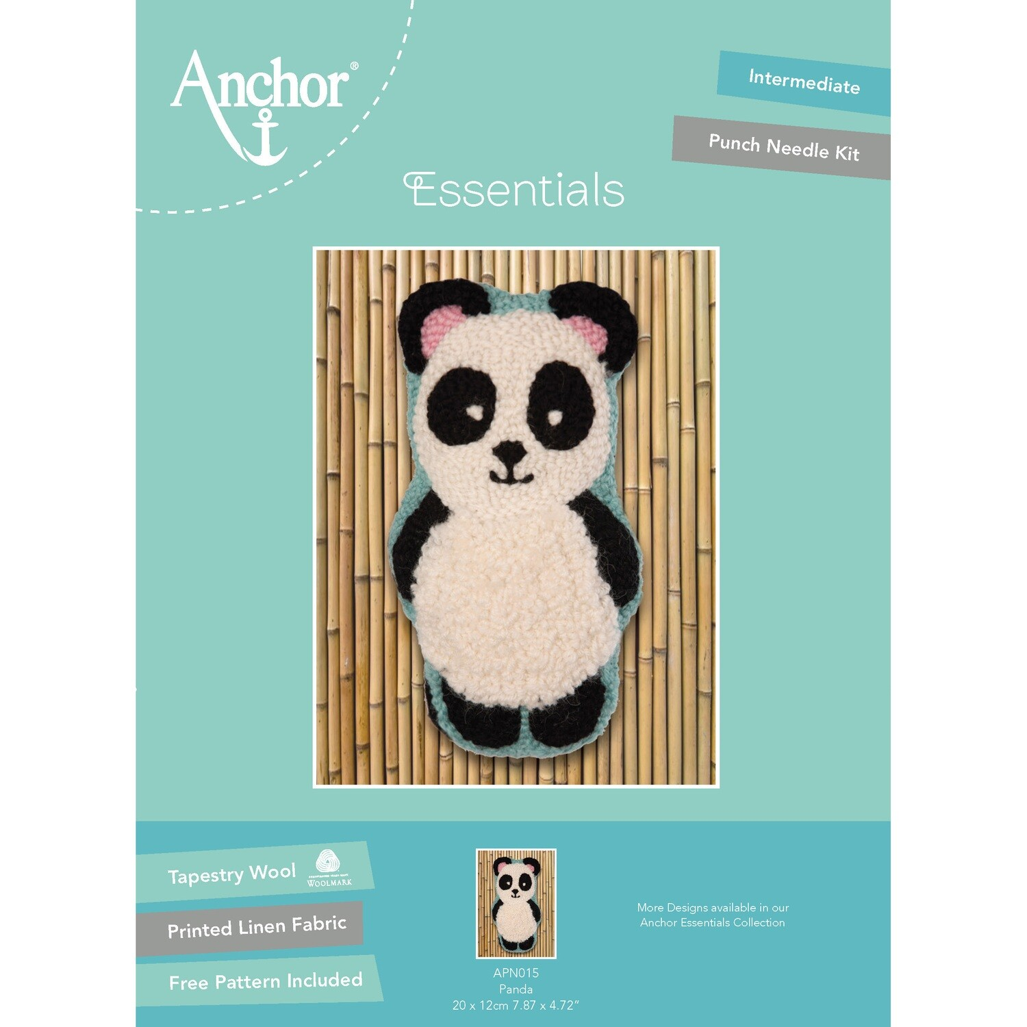Anchor Essentials Punch Needle Kit - Panda