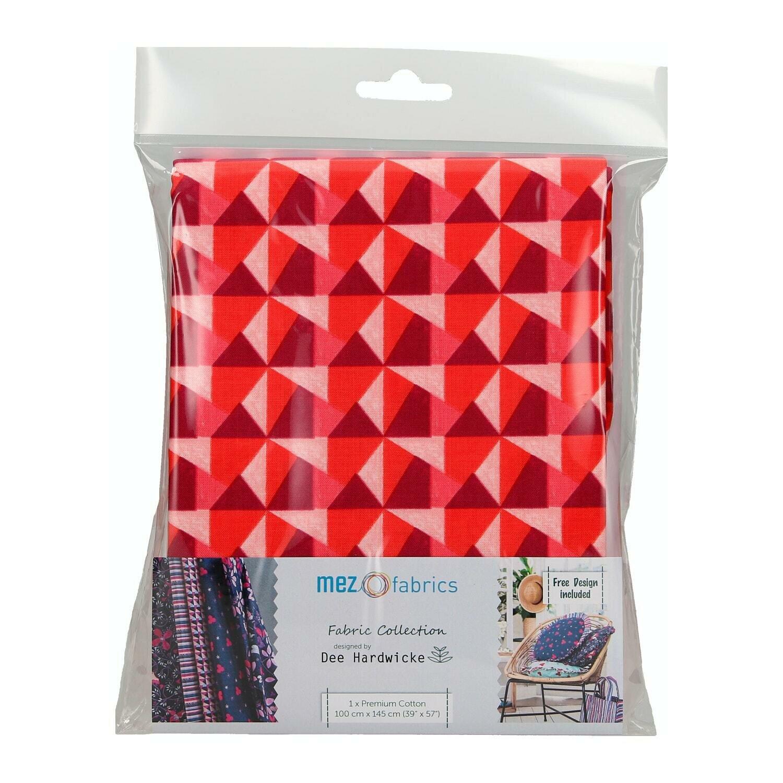 Pre-Cut Cotton - Dee Hardwicke - Geo - Red (100 x 145 cm)