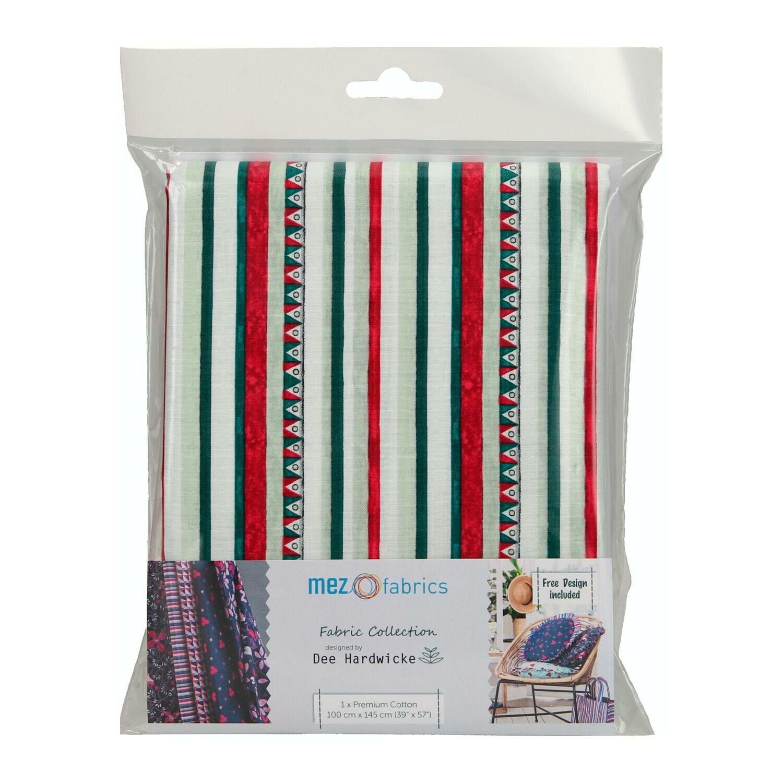 Pre-Cut Cotton - Dee Hardwicke - Triangle & Stripes - White (100 x 145 cm)